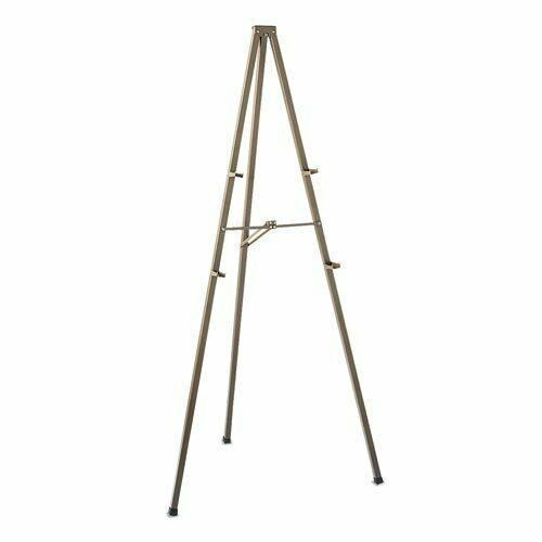 "Quartet Tripod Display Easel, 72"" High, Steel, Bronze (QRT21E)"