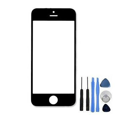 New Front Outer Screen Lens Glass Replacement + Tools for iPhone 5 5C 5S Black