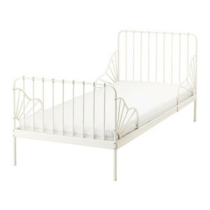 fs ikea minnen white metal day bed frame with base leirvik