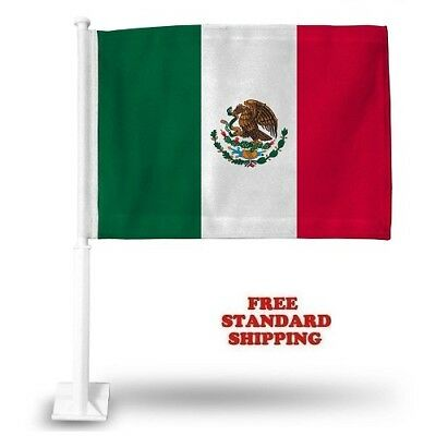 "MEXICO MEXICAN World Cup Soccer Car Flag FLAGS CAR WINDOW 18"" X 12"" INCH USA"