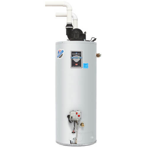 50 Gallon 40,000 BTU Hot Water Heater Natural Gas PDX1 Power Direct PVC Vent