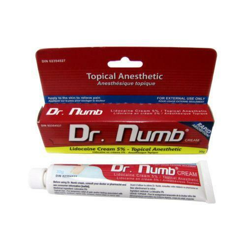 Dr numb 30g ebay for Does numbing cream work for tattoos