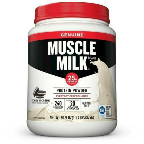 MUSCLE MILK Protein Powder COOKIES N CREAM 30.9oz 1.93LB – BB Date 5/9/21 Health & Beauty