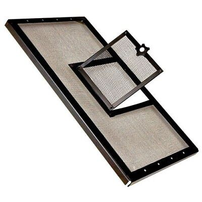 Zilla Fresh Air Terrarium Metal Screen Cover with Door (24 x 12 Inches) (Metal Terrarium Screen)
