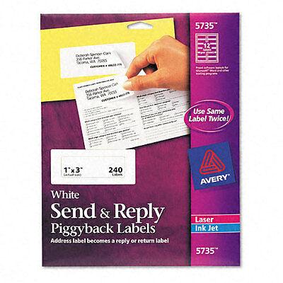 Avery Send Reply Piggyback Inkjetlaser Printer Labels 1-58 X 4 240pk