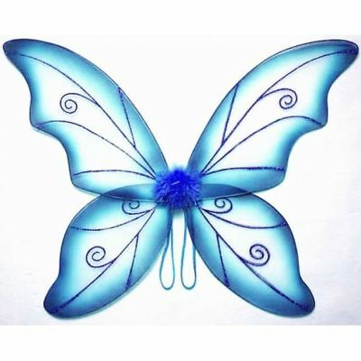 Blue Adult Dress Up Fantasy Butterfly Fairy Wings Tinkerbell Womens Costume