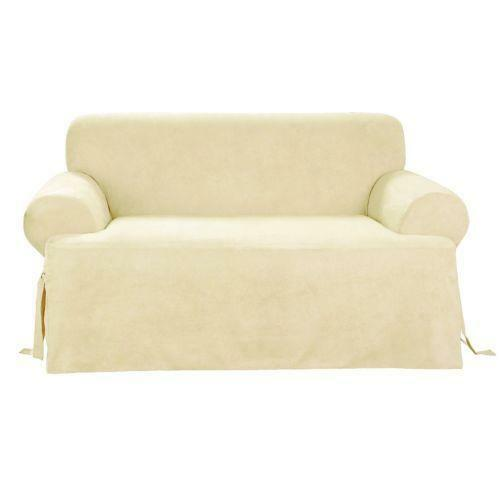 sofa slipcover t cushion ebay. Black Bedroom Furniture Sets. Home Design Ideas