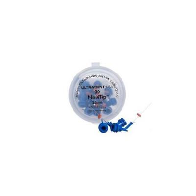 Ultradent 1250 Navitip Delivery Tips 30 Gauge 25mm Blue 20pk