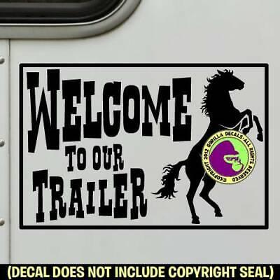 Horse Trailer Front Stripe Vinyl Decal Sticker Horse Trailer Decals 7x90