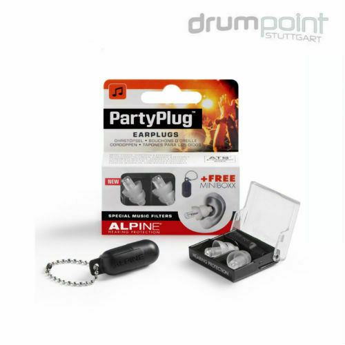 Alpine Party Plug Gehörschutz Transparent & Minibox für Musik Konzerte Disco etc
