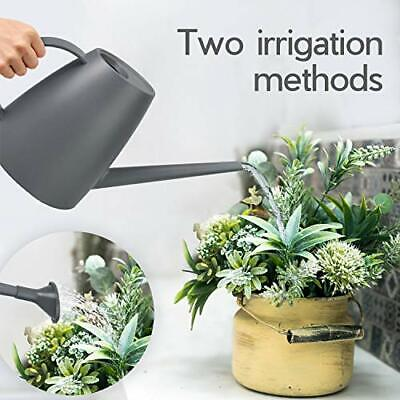Watering Can for Indoor Plants Outdoor Garden Flower Long Spout 1.8 L 60 oz Grey