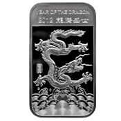 1 oz Year of The Dragon Silver Bar