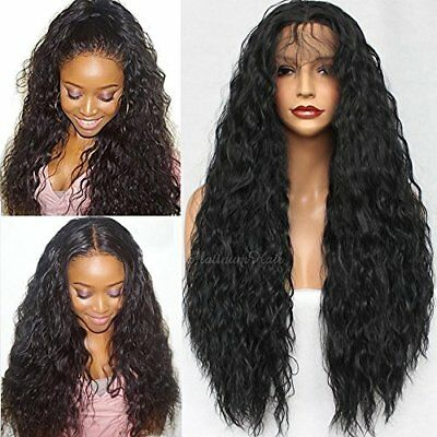 Heavy Density Loose Curl Glue less Synthetic Lace Front Wigs for Women - 24 Inch - Wigs For Less