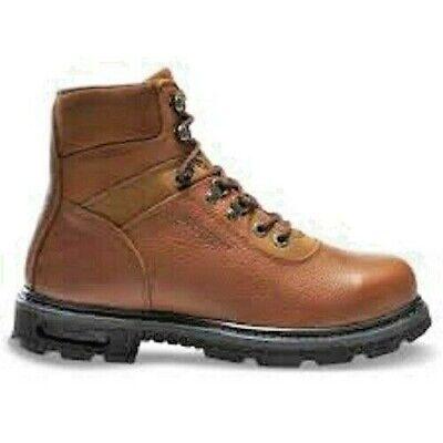 97a24df78fe Wolverine Mens Steel Toe 6 Work Boot Brown Size 10 EW Multishox ...