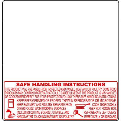 Torrey Scale Label Tr-8040 Safe Handling Upc 2.283 X 2.362 1000 Labels