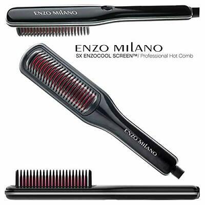 Enzo Milano HBRSX00-B ENZOcool Screen Professional Hot Comb Brush (Black)