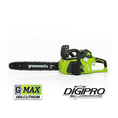 "Greenworks 40V G-Max Li-Ion 16"" Chain Saw Kit 20312 New"