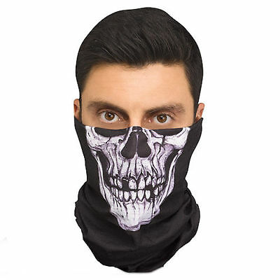 Skeleton Bandana Halloween (Skeleton Bandana Mask - )
