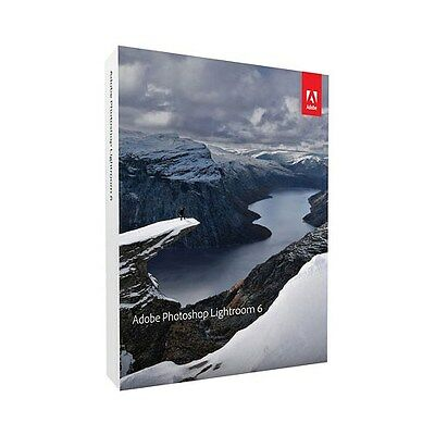 Adobe Lightroom 6 for Mac or Windows (1 User)