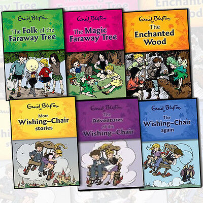 Enid Blyton Wishing Chair & Magic Faraway Tree Series 6 Books Collection Set NEW