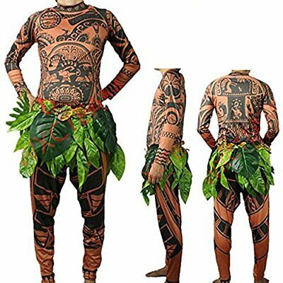 FEEAA Maui Tattoo T Shirt/Pants Halloween Adult Mens Women M Size No Size