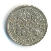 1958 Sixpence