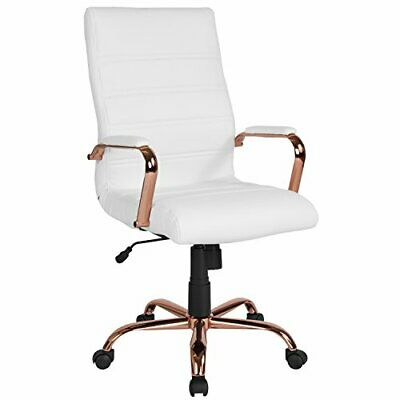Flash Furniture High Back White Leather Executive Swivel Cha
