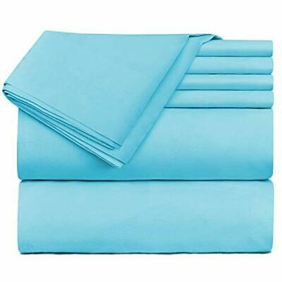 Nestl Bedding Extra Deep Pocket Sheets - Super Deep Fitted (Twin XL|Beach Blue) ()