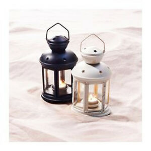 1x-Black-1x-white-tealight-candle-hanging-lantern-party-wedding-ball-decoration