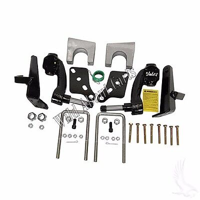 """Jake's 6"""" Drop Spindle Lift Kit, Club Car DS Golf Cart with Plastic Dust Covers"""