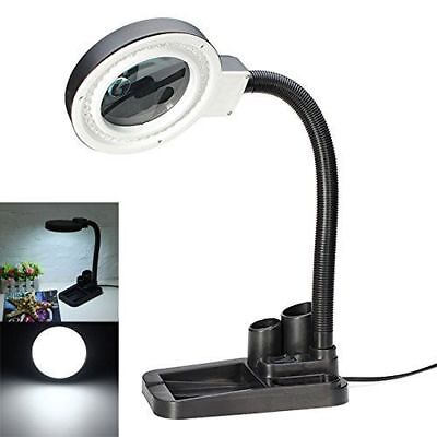 Magnifier With Light - Magnifying Crafts Glass Desk Lamp With 5X 10X Magnifier With 40 LED Lights New