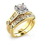 5 Ring CZ, Moissanite & Simulated Stone Engagement & Wedding Ring Sets