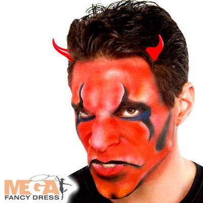 Red Cream Make Up Fancy Dress Halloween Devil Kids Adults Costume Face Paint