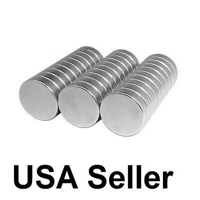 Lot 100 50 12 X 18 Neodymium Disc Strong Rare Earth N48 Small Fridge Magnets