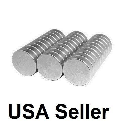 "lot 100 50 1/2"" X 1/8"" Neodymium Disc Strong Rare Earth N48 Small Fridge Magnets"