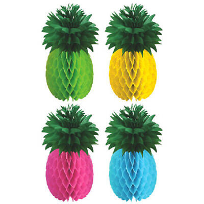 Hawaiian Centerpieces (HAWAIIAN LUAU PINEAPPLE HONEYCOMB CENTERPIECES (4) ~ Birthday Party)