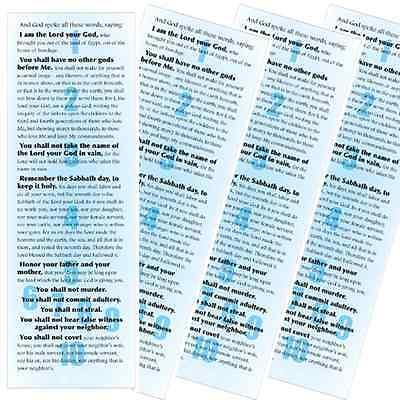 10 Commandments Poster (4pcs) HomeSchool Moses God Exodus Passover Young Messiah