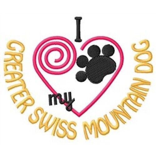 """I """"Heart"""" My Greater Swiss Mountain Dog Fleece Jacket 1438-2 Size S - XXL"""