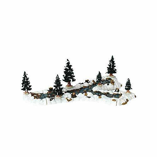 Lemax Mill Stream Christmas Village Fork Snow Scenery Landscaping 10pc Set 13367