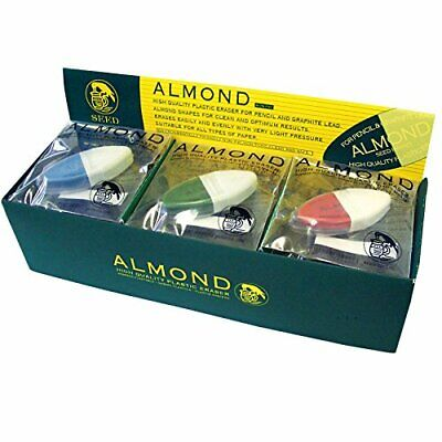 Seed High Quality Plastic Eraser Almond Cute 15 Pieces Ep-hk1-15p Made In Japan