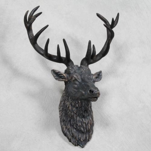Black Stag Head: Home Decor