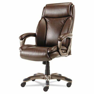 Alera Executive High-back Leather Chair W Cushioning Brown Alevn4159