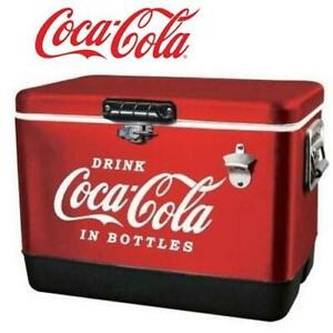 NEW* COCA-COLA METAL ICE CHEST CCIC-54R 252090783 54QT