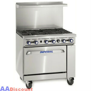 NEW-IMPERIAL-36-COMMERCIAL-6-OPEN-BURNER-1-OVEN-GAS-RANGE-STOVE-IR-6