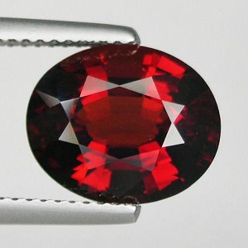 5.50 ct  WONDERFUL ORANGE DEEP RED NATURAL SPESSARTITE GARNET Oval * 2823 BK