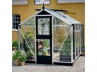 """Juliana Greenhouses 50% 0ff - Example: Compact 77, 7' 4"""" wide x 7' 4"""" Long with FREE DELIVERY"""