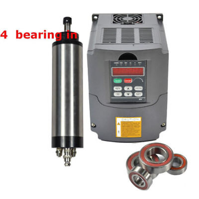 Four Bearing 2.2kw 110v Water Cooled Spindle Motor Er20 Inverter Vfd Drive