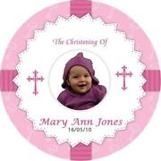 Personalised Christening Stickers