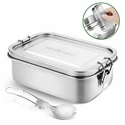 Godmorn Bento Box, Stainless Steel Lunch Box Metal Bento Box with Removable