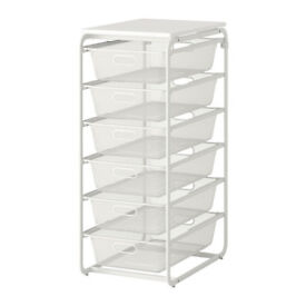 IKEA Algot 6 drawer white storage unit - RRP £51